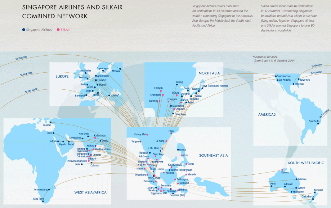 Routes - Infinite Flight Singapore Airlines Virtual